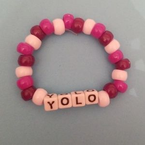 """Yolo"" stretchy bead bracelet"